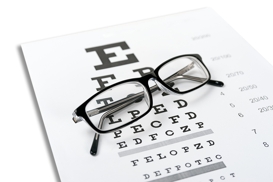 glasses eyechart